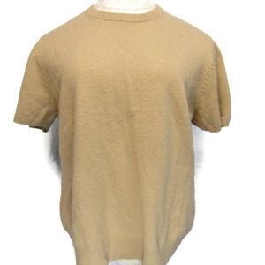 Neiman Marcus Cashmere Short Sleeve Sweater XL